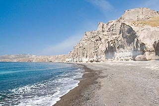 white beach santorini
